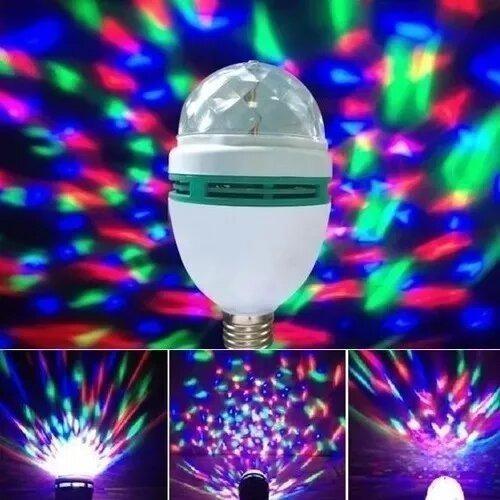 Bombillo led giratorio multicolor fiestas discoteca ambient