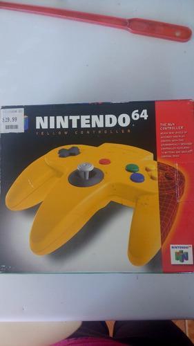Control de nintendo 64 nuevo original en su caja