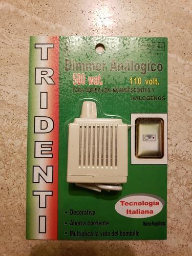 Dimer analogico 500w tridenti (8vds)