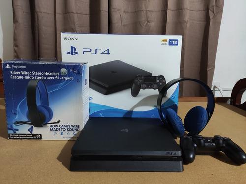 Playstation 4 slim 1tb 20 juegos, como nuevo,+ accesorios