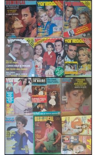 Revistas farandula 80s variedades, tv guia, dominical 2001