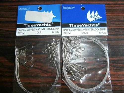 Guayas de pesca 45,60,70 y 90 lb pqtes de 6 unidades
