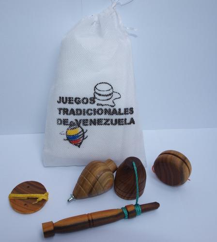 Juegos tradicionales acabado de 1ra en saco de tela pop