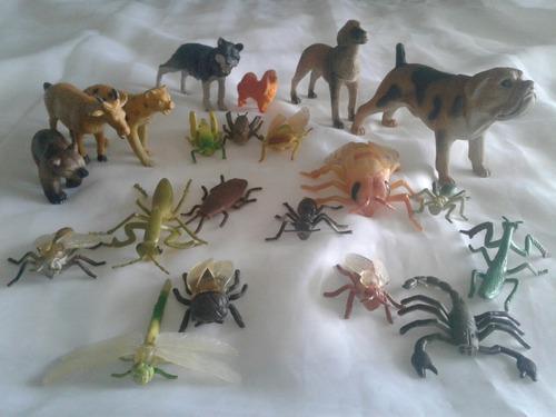 Juguete animales inseptos plasticos