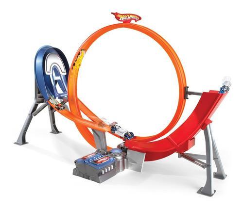 Pista mattel original hotwheels circuit básico espiral