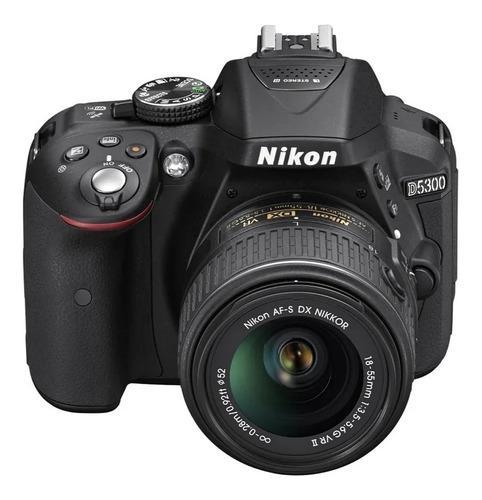 Camara nikon d5300 con forro flash memoria sd 64gb y lentes