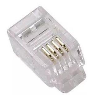 Conector rj11 telefonico 100 conectores