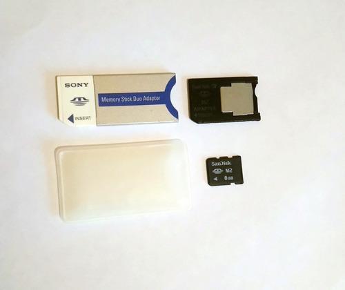 Memoria Micro M2 Sandisk 8 Gb Con Adaptador Sony Pro Duo
