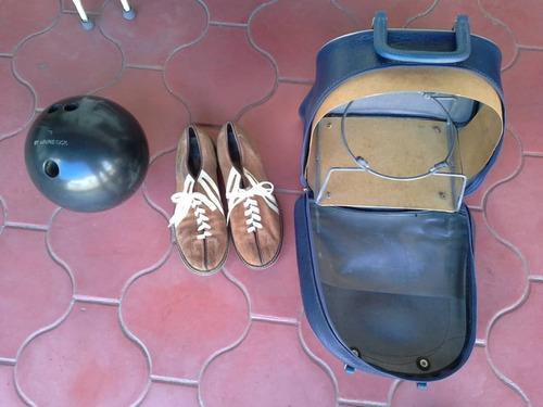 Bola de bowling brunswick 16lb. con bolso y zapatos