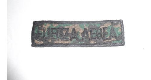 Remato parcho fuerza aerea camuflado, usado, 1 verde, leer