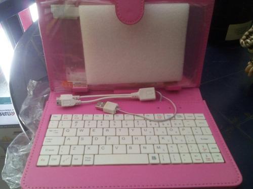 Estuche con teclado tablet samsung 7 y protector de pantall