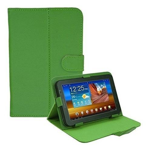 Forro estuche de piel tablet 7 hde universal verde