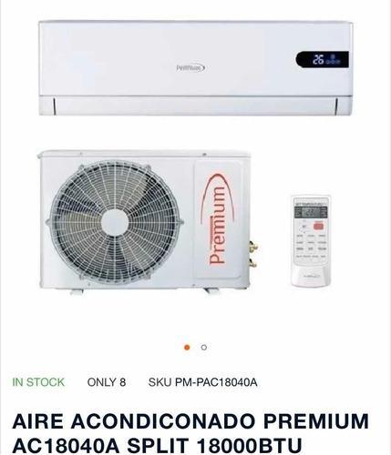 Aire acondicionado split 18000 btu premium 330dllrr