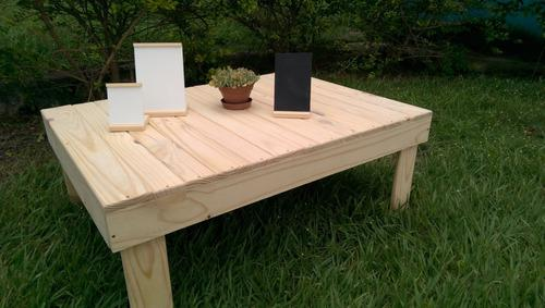 Mesa madera de pino curadas y fumigadas
