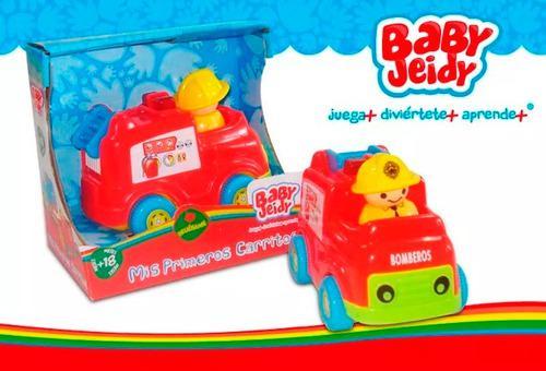 Carrito bombero niño juguete bebe con sonido baby jeidy