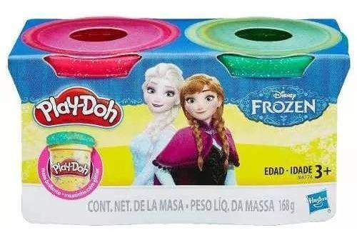 Play doh frozen plastilina brillante 2 pack original hasbro