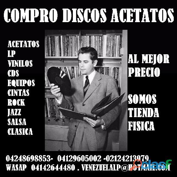 Compro discos lp acetatos, compra de vinilos, se compran discos, musica, rock, jazz, salsa, clasica.