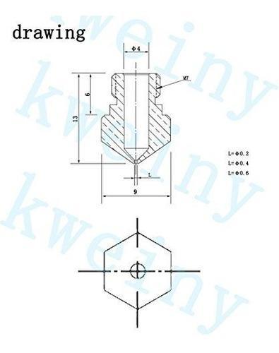 Kweiny mk10 hotend kit para impresora 3d makerbot