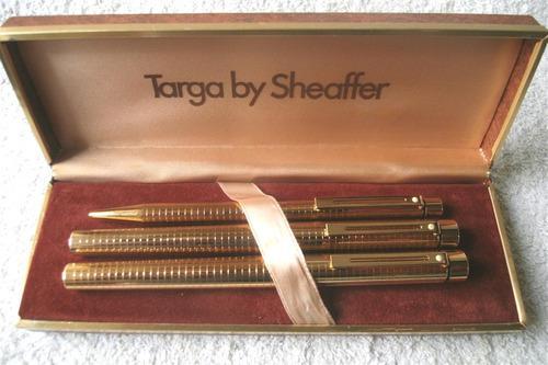 Pluma boligrafo gold electroplated sheafeer 14k usa
