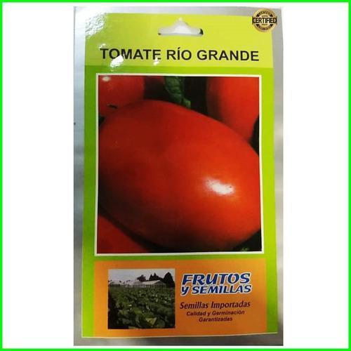 7 sobres de semillas tomate río grande 2 gramos importadas