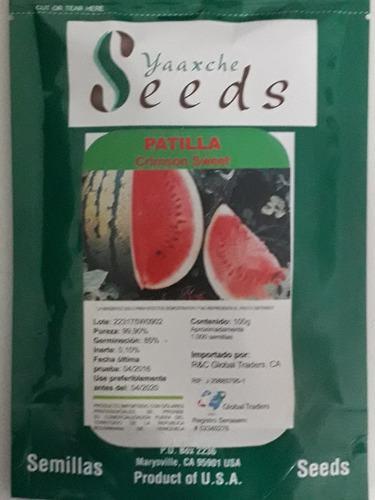 Semilla de patilla crimson sweet certificadas made in usa