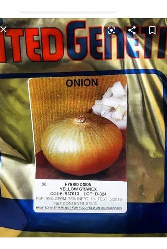 Semillas certificadas de cebolla yelow granex f1 575 gr