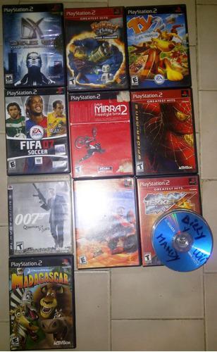 Juegos de playstation 2 (ps2) + combo de películas