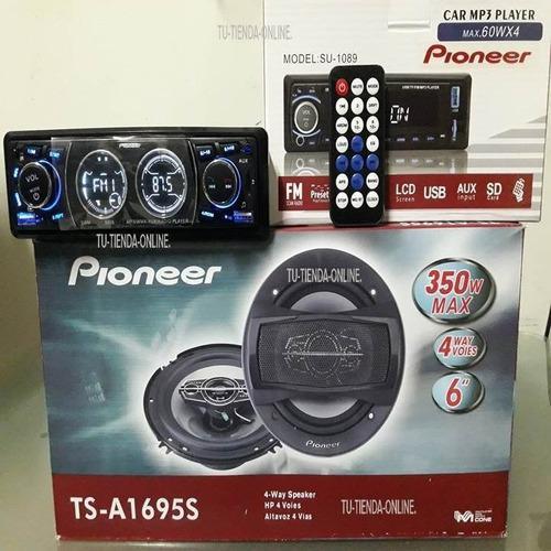 Reproductor pioneer bluetooth + cornetas pioneer combo nuevo