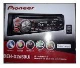 Reproductor pioneer deh-2650ui, para carro, frontal extraibl