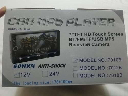 Reproductor usb mp5 player para vehiculo con cámara trasera