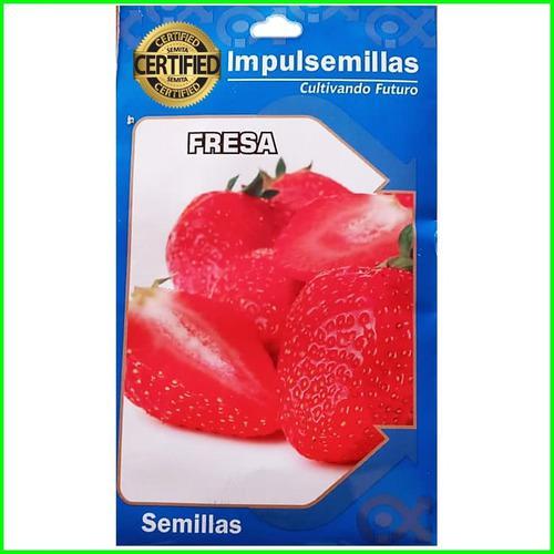 Sobres de semillas de fresa importadas