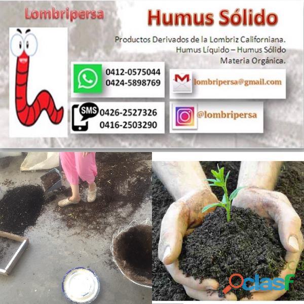 Fertilizante humus sólido derivado de la cría de lombriz roja californiana