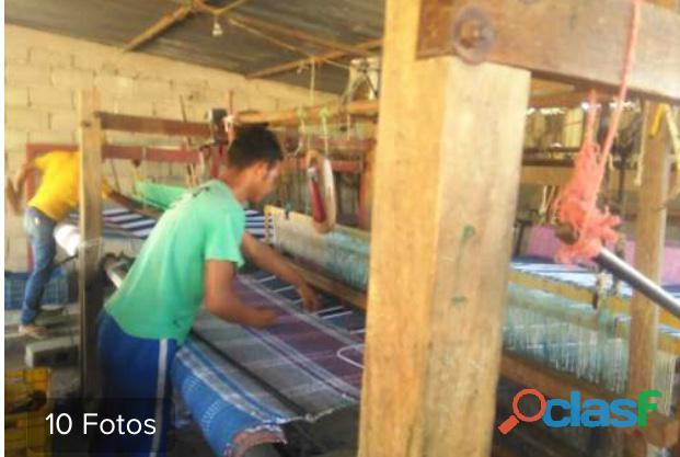 Hamacas fabricadas o tejidas en aldea artesanal de tintorero en lara