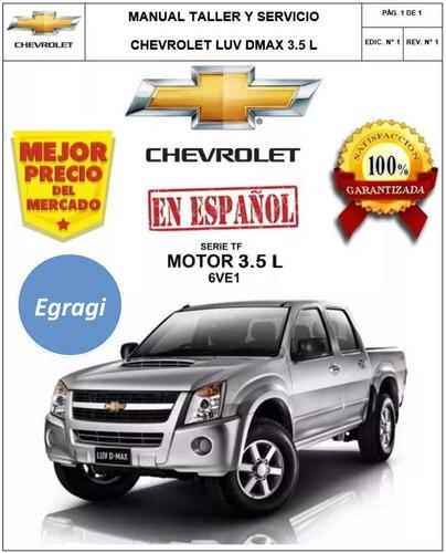 Pack manual taller motor 6ve1 luv dmax 3.5 l mecanica + ebd