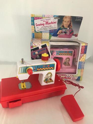 Maquina de coser juguete cose manual con obsequio