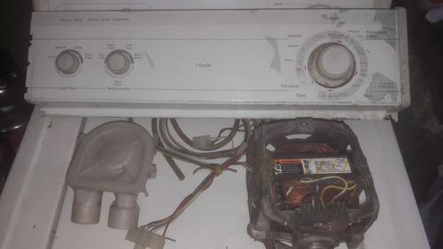 Partes:motor/reloj-timer/bomba/panel-cableado whirlpool