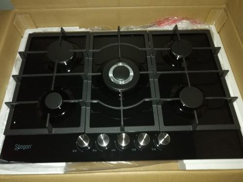 Tope cocina 5 hornillas a gas frigilux vitroceramica 75cm