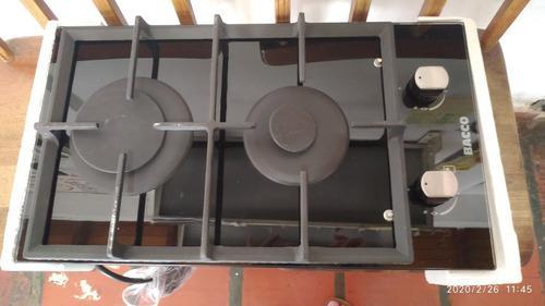 Tope de cocina a emprotrar a gas 2 hornillas vitroceramica 3