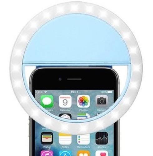 Aro de selfie iluminado luz led recargable celular tienda