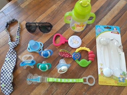 Kit juguete musical bebe chupones, móvil, perchero.