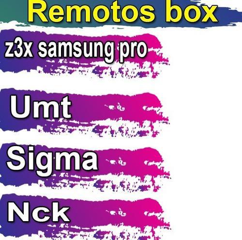 Servicios remoto box nck octoplus z3x samsung liberacion frp