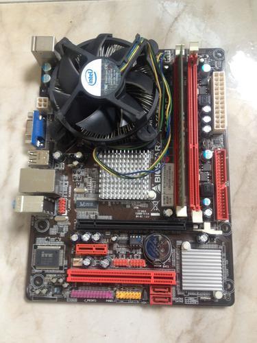 Tarjeta madre biostar g41d3c + procesador + 4gb ram