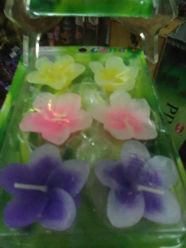Paquete de 6 velas flotantes