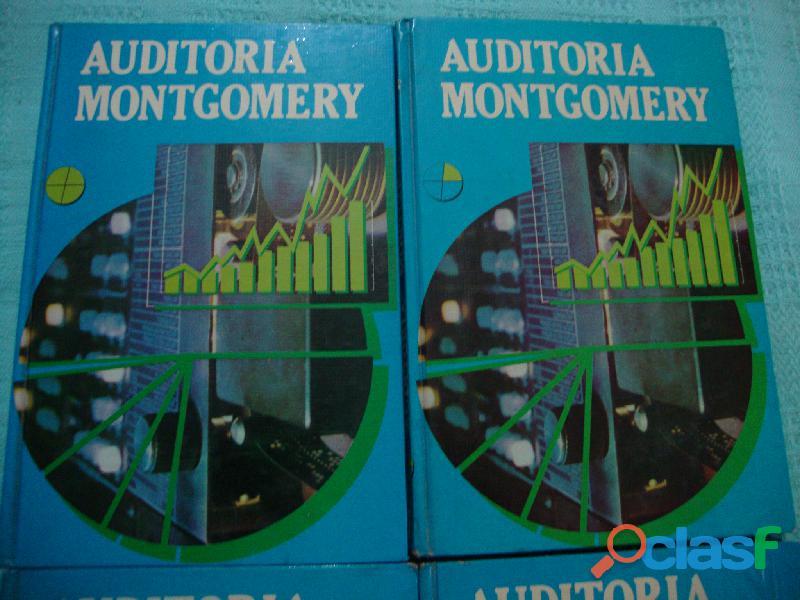 CUATRO LIBROS DE AUDITORIA MONTGOMERY 1