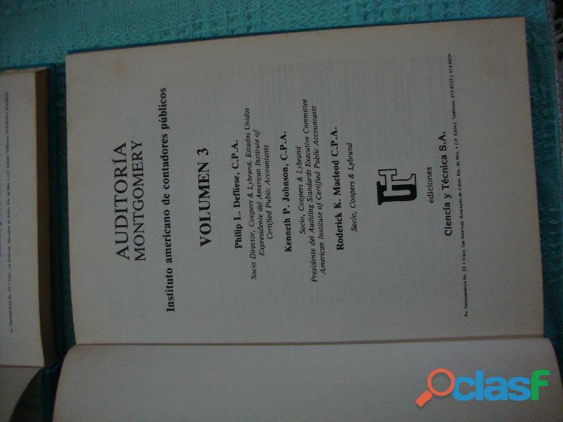CUATRO LIBROS DE AUDITORIA MONTGOMERY 2