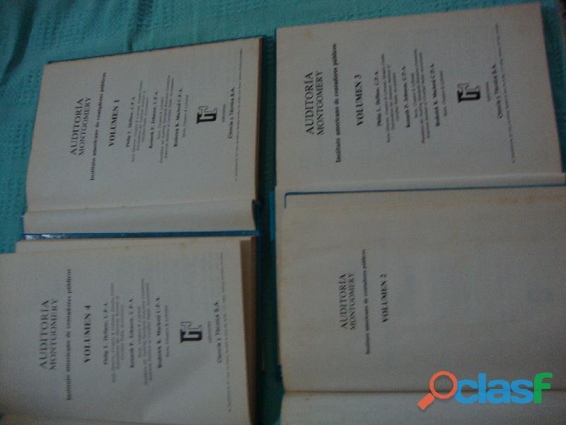 CUATRO LIBROS DE AUDITORIA MONTGOMERY 3