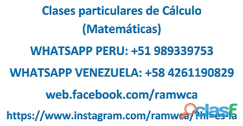 Clases particulares de cálculo (matemáticas)