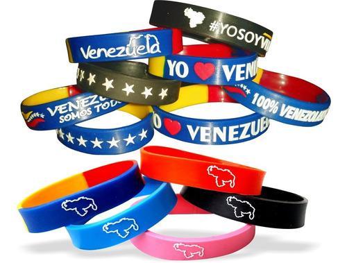 Pulseras de silicon venezuela la vinotinto (12 unidades)