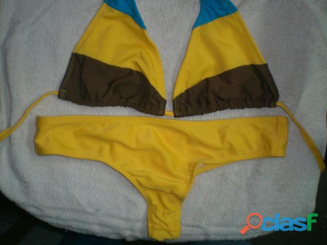 trajes de baño para dama tipo panty y semihilo 4
