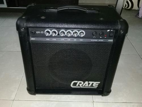 Amplificador de guitarra electrica crate de 15w modelo gx15